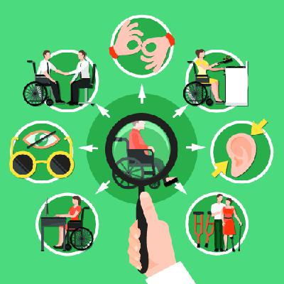 Urgences optiques, assistance à personnes en situation de handicap et continuité du suivi médical